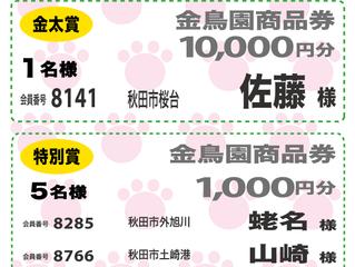 【ワンダフル会員セール当選者発表】