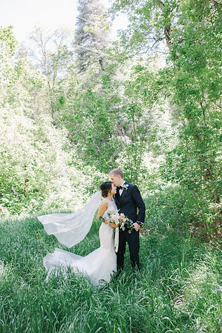 Elegant Garden Wedding | poetic, romantic, timeless, true to color, film photography, wedding photography, bride, bridal, fine art, photos, flowers, wedding portraits, floral, Utah, event design, flat lay, calligraphy, vintage car, wedding rings, wedding color palette, cool tones | Emily B. Photography – Modern Fine Art Wedding Photographer