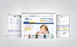 Редизайн сайта для медицинского туроператора http://www.lezard.ru/ - главная страница (2015)