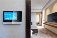 digital screen on wall with modern luxur