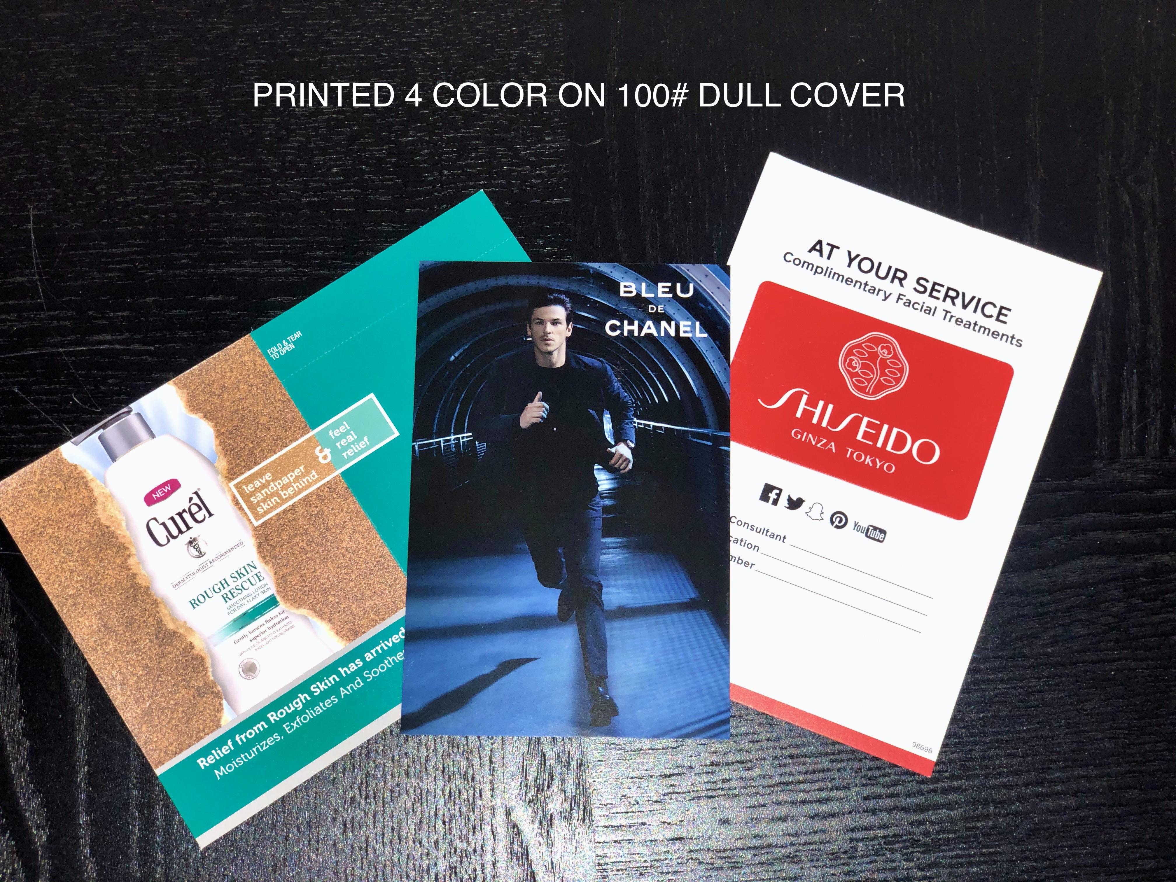 Printed 4 Color, custom printing . . .
