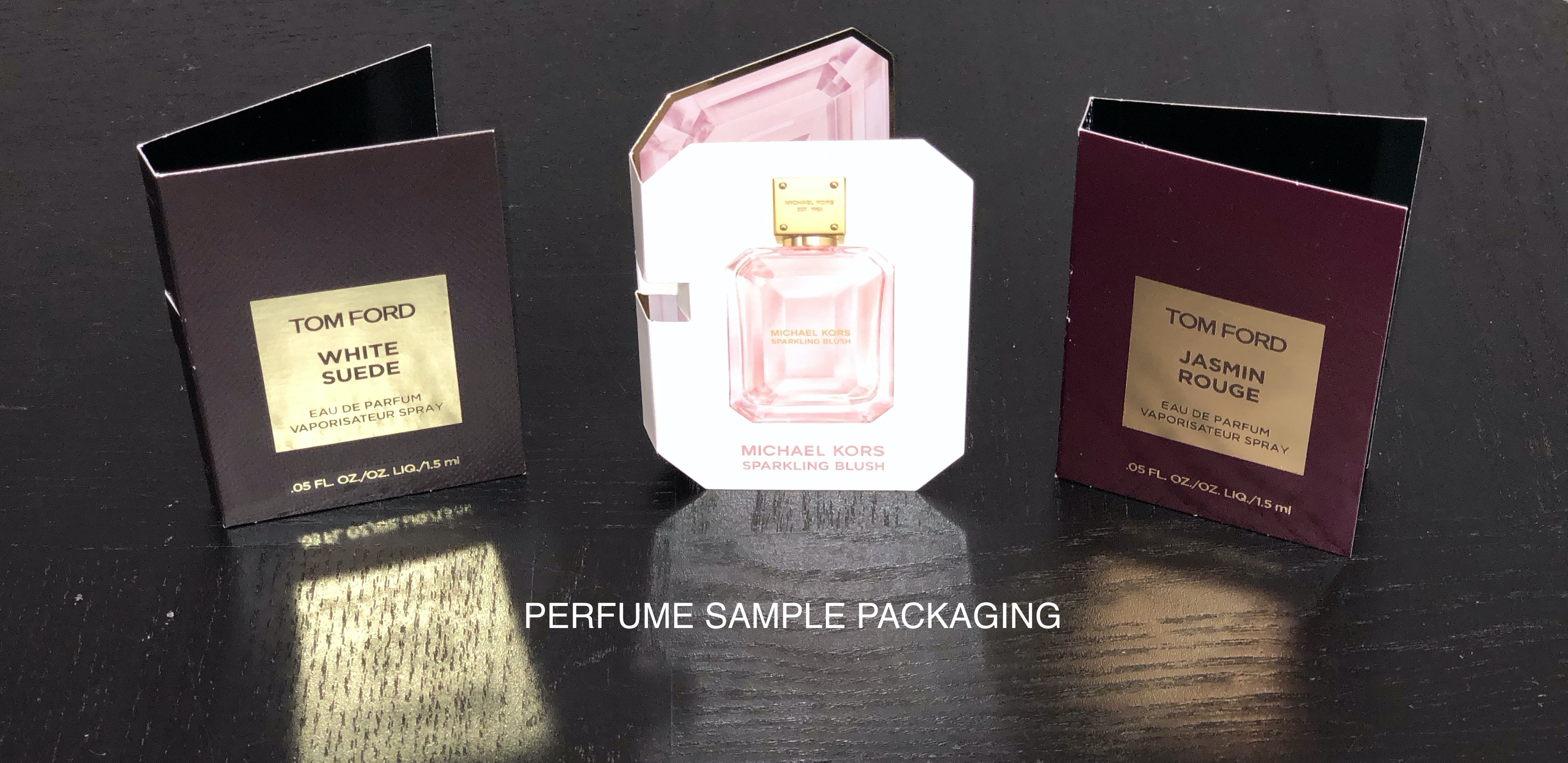Perfume Sample Packaging - custom print