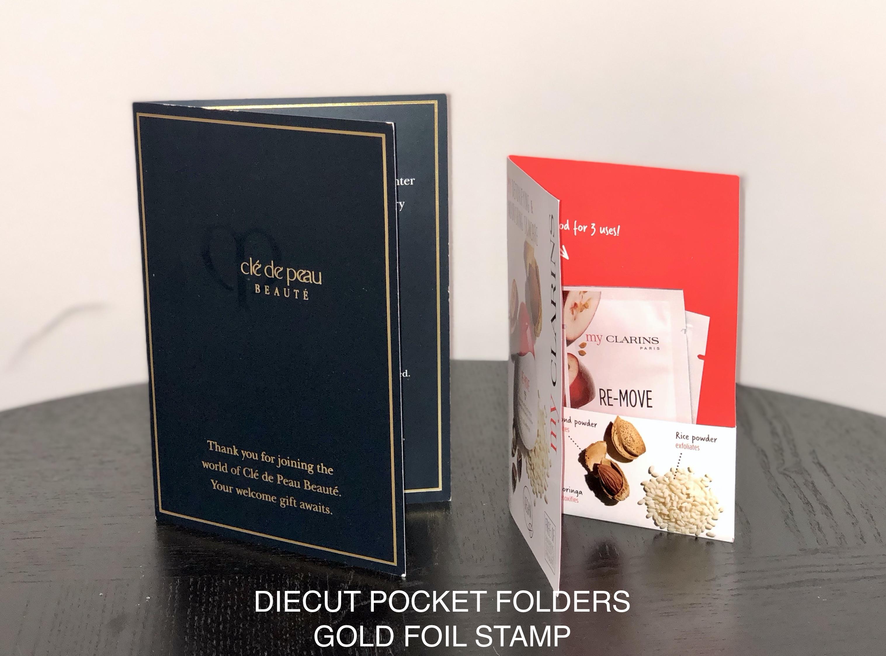 Diecut Pocket Folders, Custom Printing