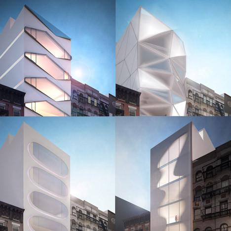 Karim Rashid demande à ses fans Facebook de choisir une façade pour l'une de ses constructions à