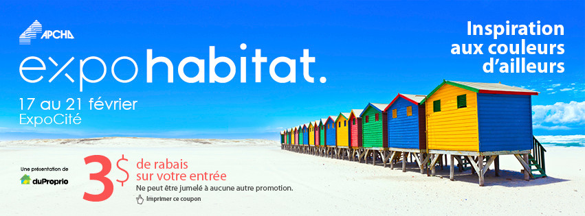 FACADE AU SALON EXPO-HABITAT DU 17 AU 21 FÉVRIER | KIOSQUE 258