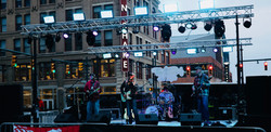 Tin roof outdoor stage