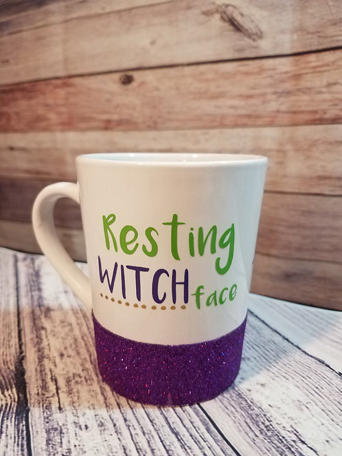 RESTING WITCH FACE COFFEE CUP