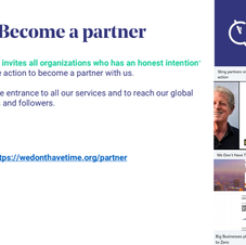 The partnership is the entrance to all our services and to reach our global network of mem