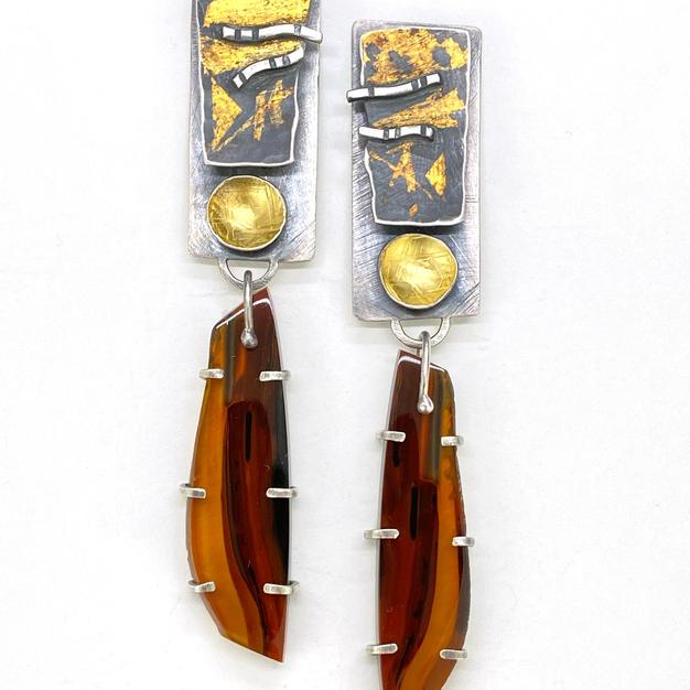 Brazilian Agate Stratum Earrings