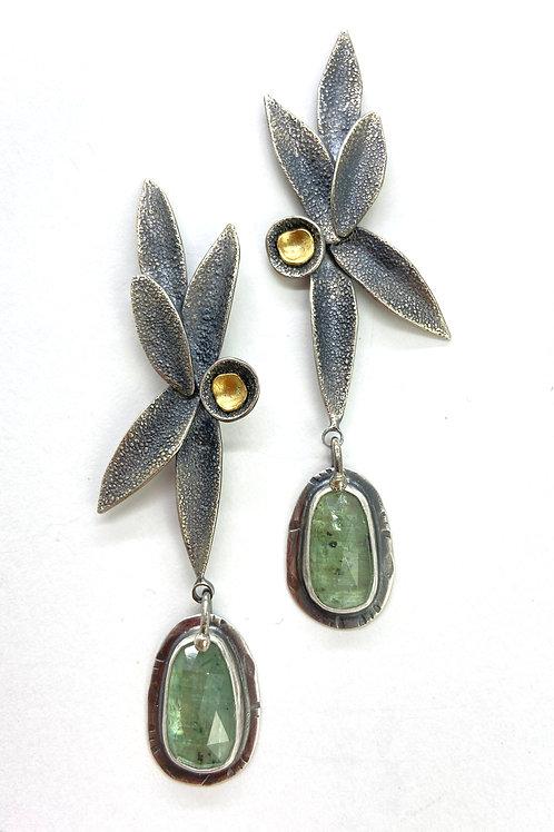Kyanite Petal Earrings