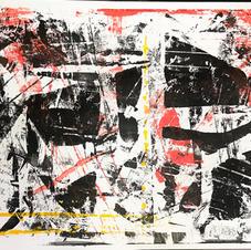 Monoprint on paper (acrylic)
