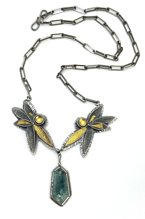 Tourmaline Petal Necklace