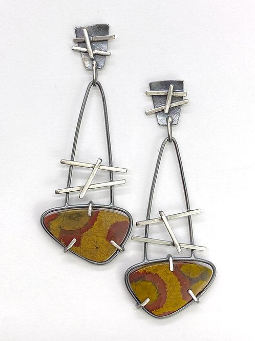 Poppy Jasper Dangle Earrings