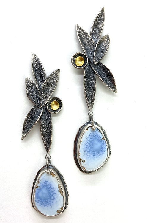 Golden Hills Turquoise Petal Earrings