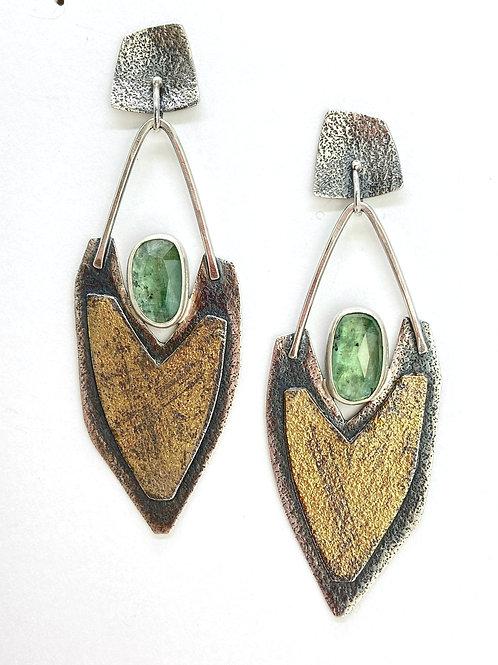 Kyanite Luna Texture Earrings