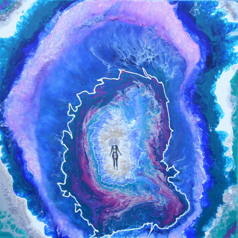 Tidasana in the Geode Mixed Media on Can