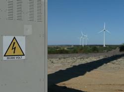 30,000 V sign Lancelin Wind Farm