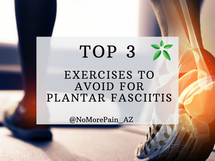 The three WORST exercises for Plantar Fasciitis