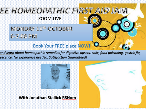FREE Homeopathy First Aid Jam