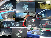 Арт тонирование, художественное тонирование, рисунок на стекле, рисунок на тонировке, арт тонировка автомобиля, аэрография на автомобиле., студия тонирования, сделать арт тонировку в нягани, тонировка с рисунком в нягани, арт тонирование нягань