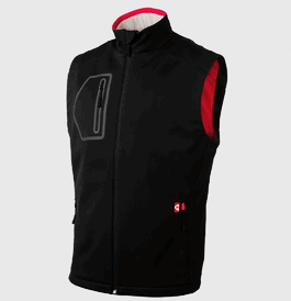 Unisex Heated Fleece Vest,Black
