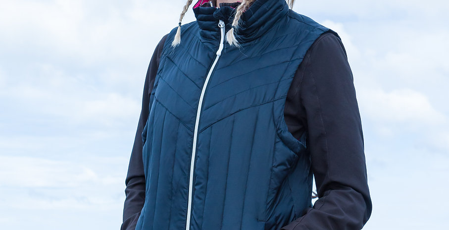 Women's Heated Puffer Vest, Black