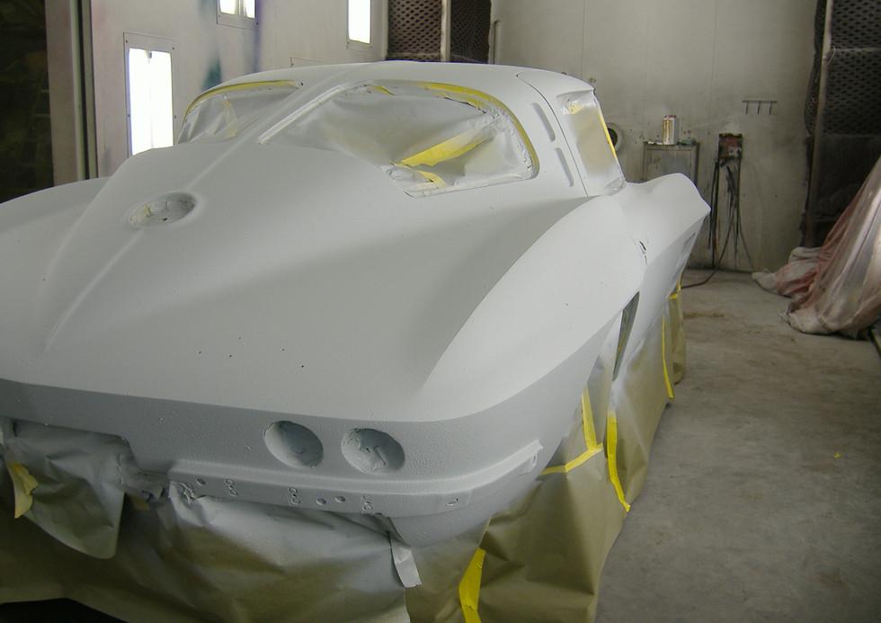 Body coated in Gelcoat