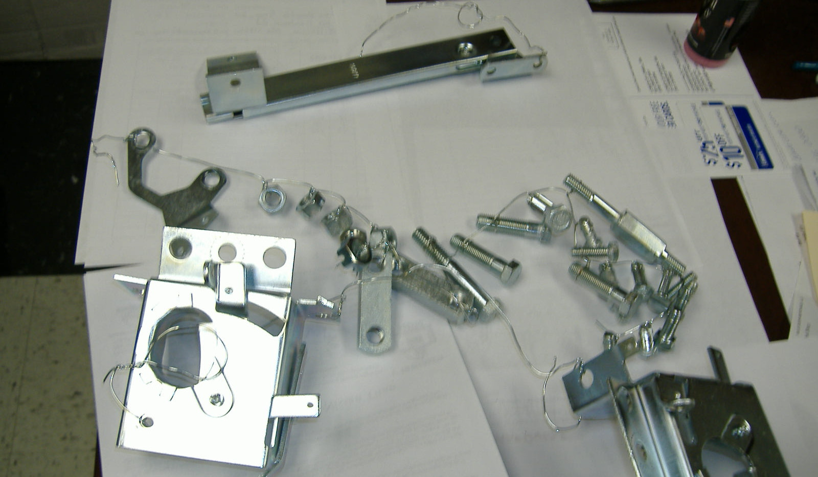 Original parts and hardware
