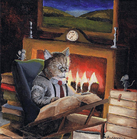 Reading Near the Fire