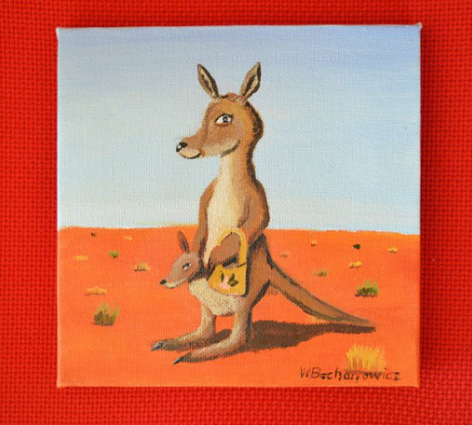 Mother Kangaroo and Joey