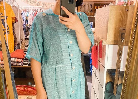 Marrs Green橫紋短袖連身裙