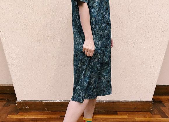 灰藍漣漪紋娃娃裙