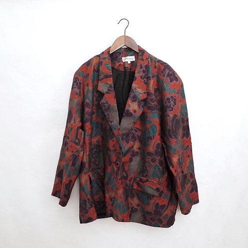 紅紫葡萄長袖西裝褸