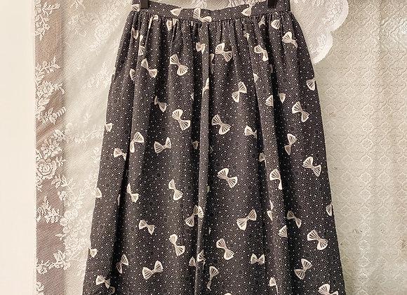 黑白蝴蝶小圓點半截裙