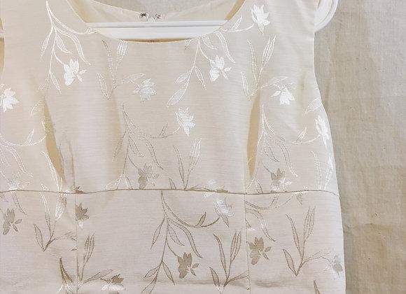 白印花連身裙