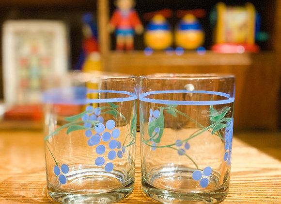 藍綠葡萄古典玻璃杯