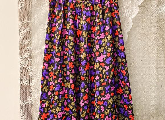 黑紫紅矩形半截裙