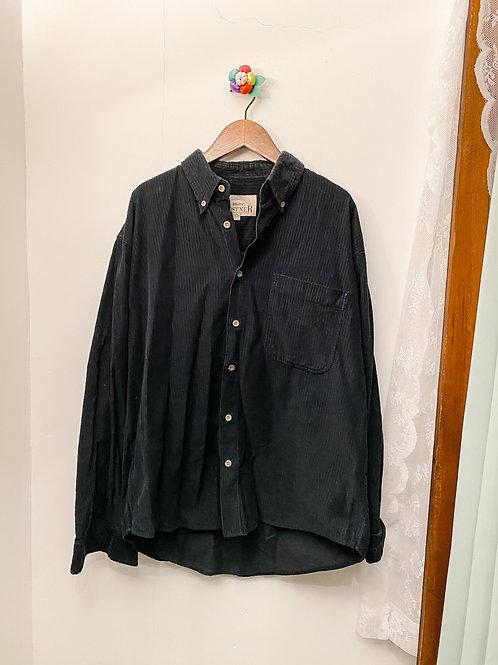 黑色直紋長袖裇