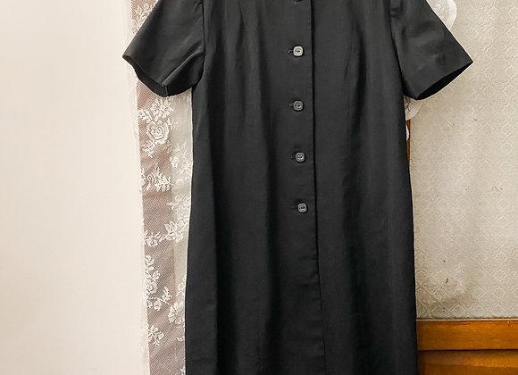 純黑短袖連身裙