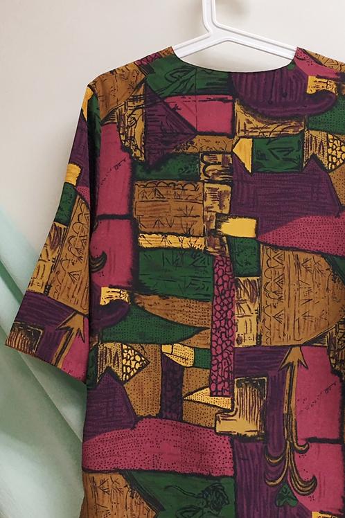 抽象畫復古外衣