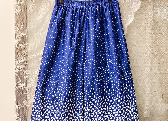 深藍白圓點蝴蝶形半截裙