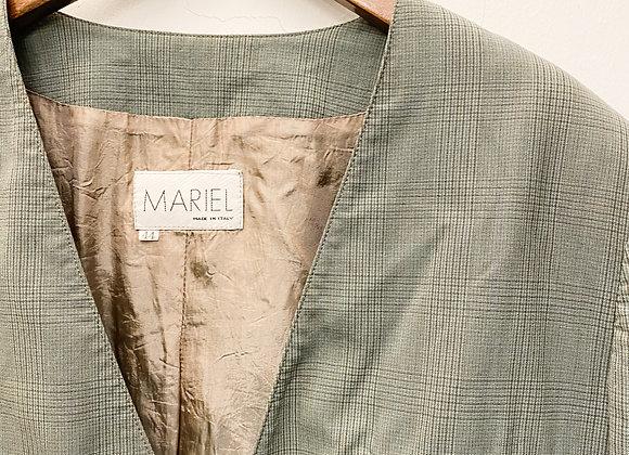 灰綠窗櫺格西裝外套