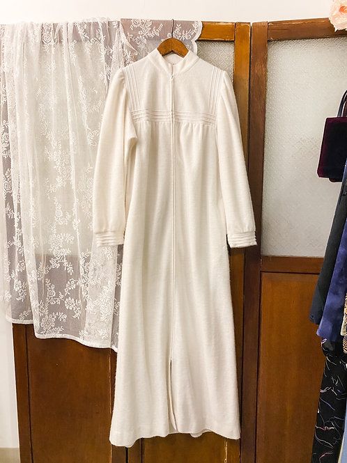 純白莉亞長袖連身裙