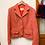 Thumbnail: 紅白花布西裝外套