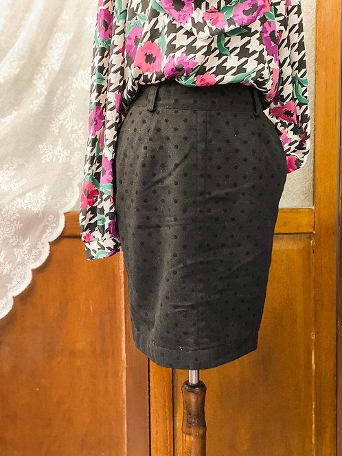 黑絨小圓點半截裙