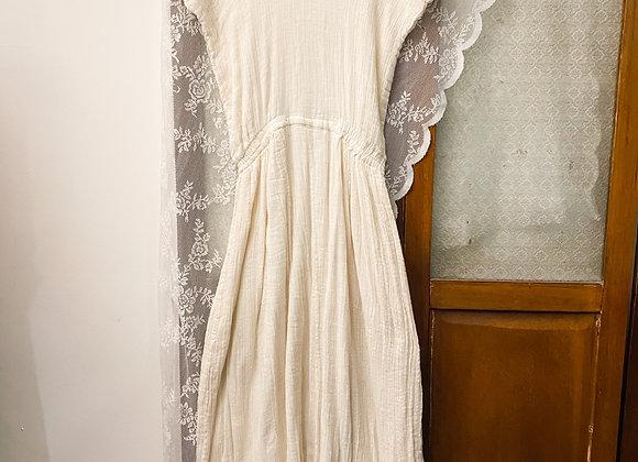 銀白民族入膊連身裙