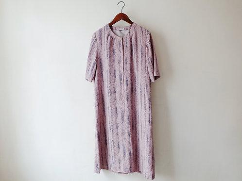 粉紅直紋短袖娃娃裙