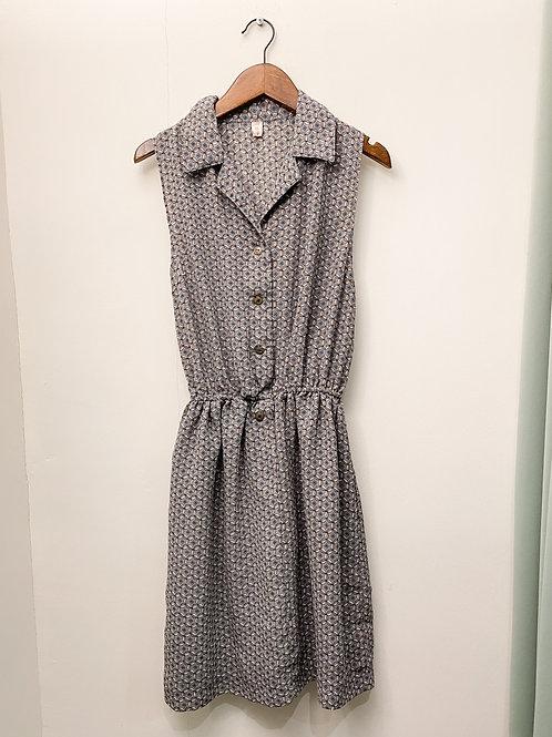 地磚紋背心連身裙