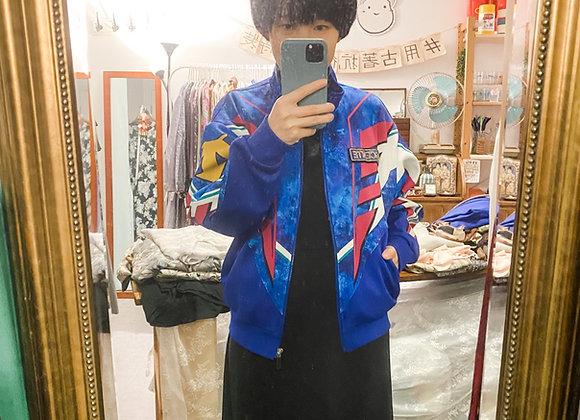 Descente紫藍復古tracksuit