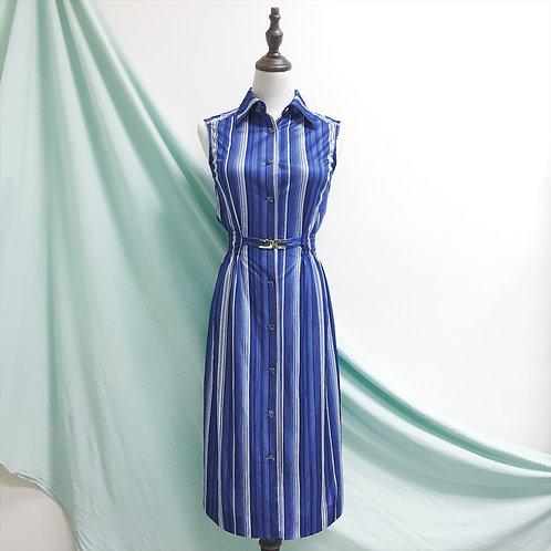 藍直間古著連身裙